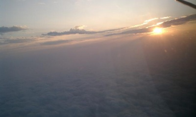 Sunrise 6000 feet over Cedar Key